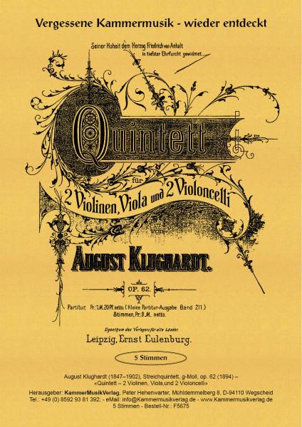 Klughardt, August – Streichquintett, g-Moll, op. 62
