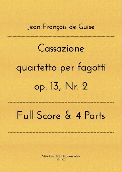 Guise, Jean François de – Cassazione quartetto per fagotti