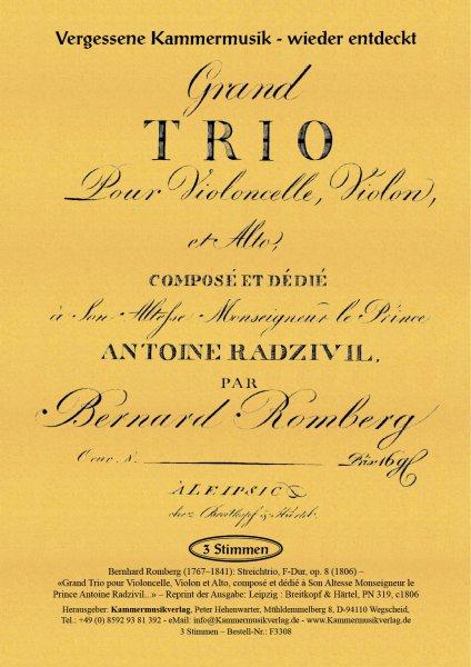 Romberg, Bernhard – Streichtrio, F-Dur, op. 8