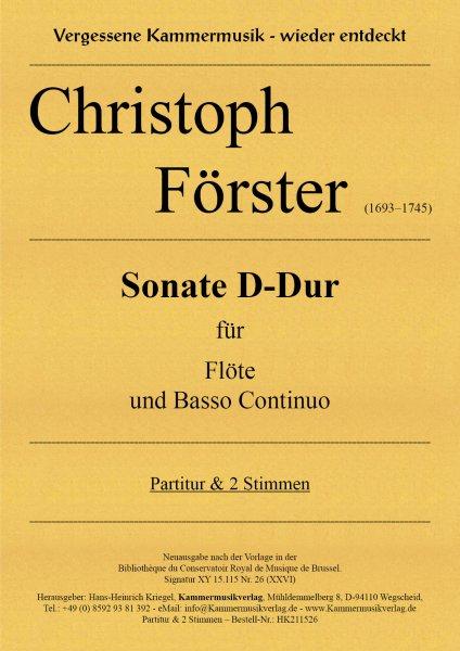 Förster, Christoph – Sonate D-Dur