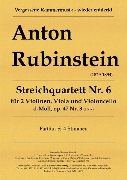 Rubinstein, Anton – Streichquartett, d-Moll, op. 47, Nr.3