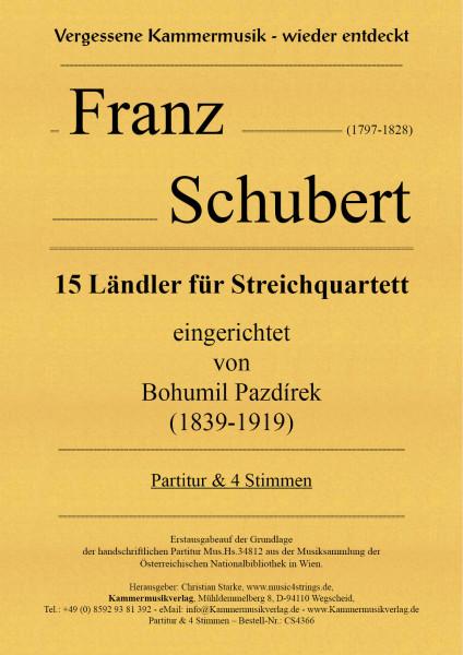 Schubert, Franz – 15 Ländler für Streichquartett