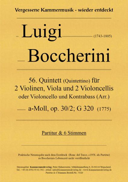 Boccherini, Luigi – 56. Quintett für 2 Violinen, Viola und 2 Violoncelli