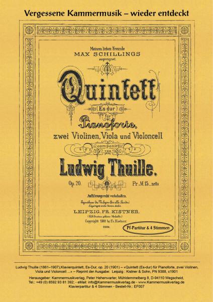 Thuille, Ludwig – Klavierquintett, Es-Dur, op. 20
