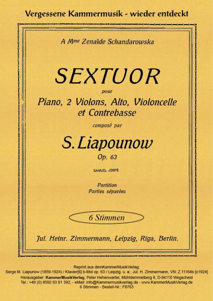 Liapunow, Sergej Michalowitsch – Klaviersextett, b-Moll, op. 63