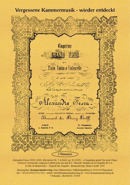Fesca, Alexander – Klaviertrio Nr. 5, h-Moll, op. 46