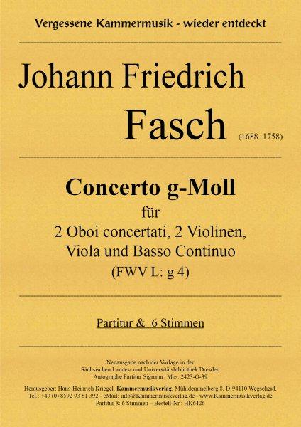 Fasch, Johann Friedrich – Concerto g-Moll (FWV L: g 4)