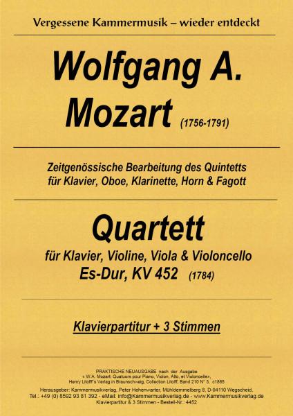 Mozart, Wolfgang Amadeus – Klavierquartett (arr.), Es-Dur, KV452