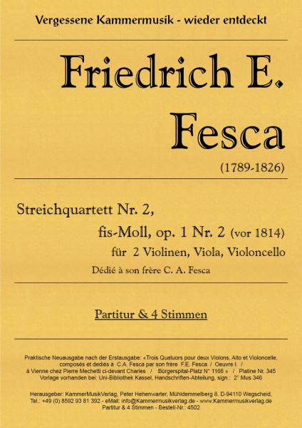Fesca, Friedrich Ernst – Streichquartett Nr. 2, fis-Moll, op. 1-2
