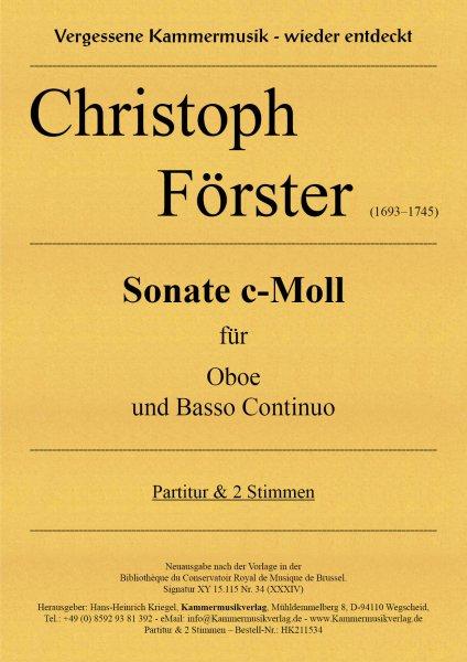 Förster, Christoph – Sonate c-Moll