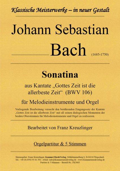 Bach, Johann Sebastian - Sonatine für Melodieinstrumente und Orgel