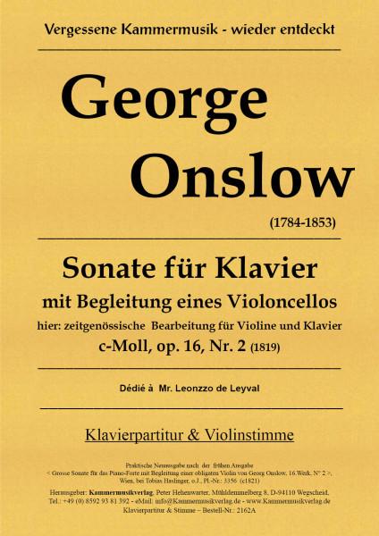 Onslow, George – Sonate für Violine & Klavier, c-Moll, op. 16-2
