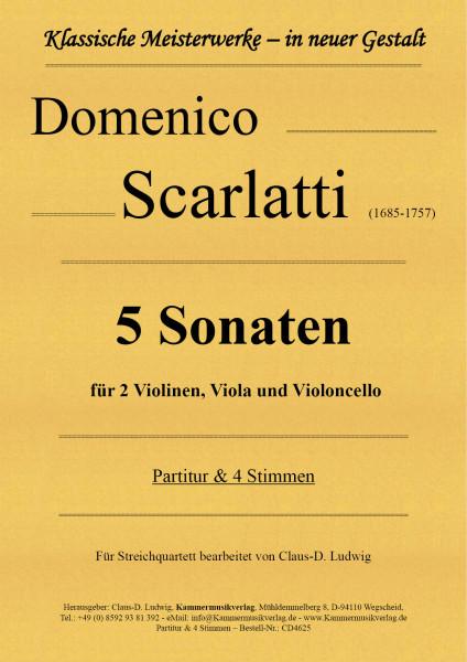 Scarlatti, Domenico – 5 Sonaten für Streichquartett