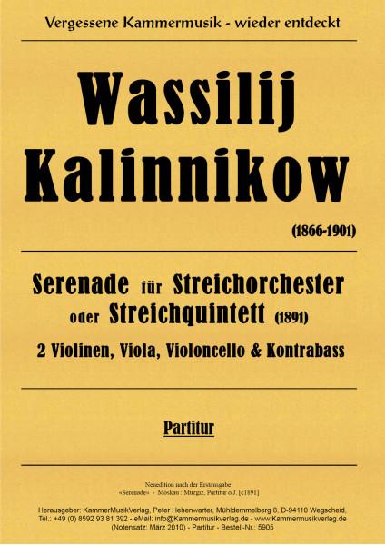 Kalinnikow, Wassilij – Serenade für Streichorchester