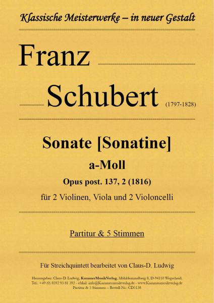 Schubert, Franz – Sonate [Sonatine] a-Moll für 2 Violinen, Viola und 2 Violoncelli