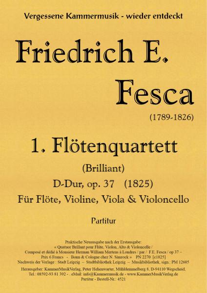 Fesca, Friedrich Ernst – Flötenquartett Nr. 1, D-Dur, op. 37 – Partitur