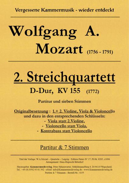 Mozart, Wolfgang Amadeus – Streichquartett Nr. 2, D-Dur, KV155