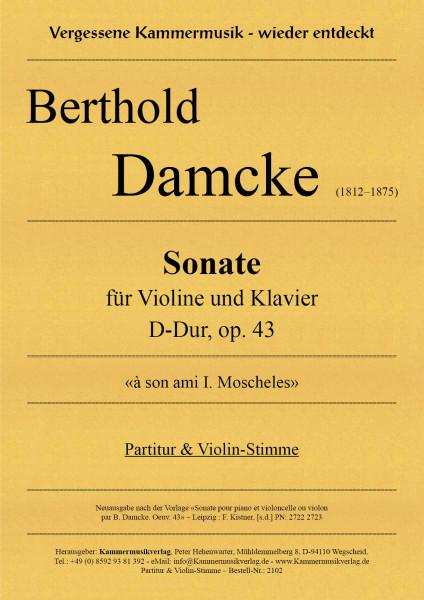 Damcke, Berthold – Sonate für Violine und Klavier D-Dur, op. 43