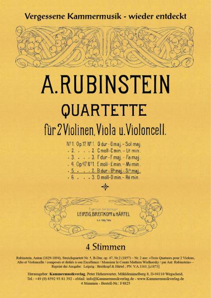 Rubinstein, Anton – Streichquartett Nr. 5