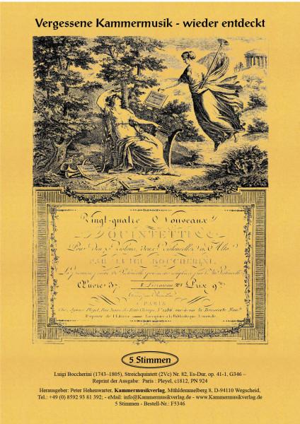 Boccherini, Luigi – 82. Quintett für 2 Violinen, Viola und 2 Violoncelli, Es-Dur, op. 41-1, G 346