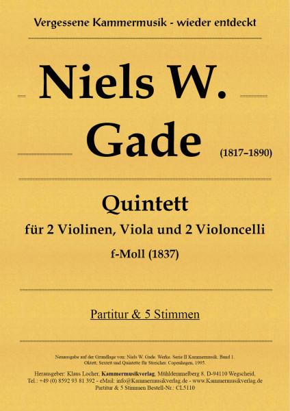 Gade, Niels W. – Streichquintett, f-moll