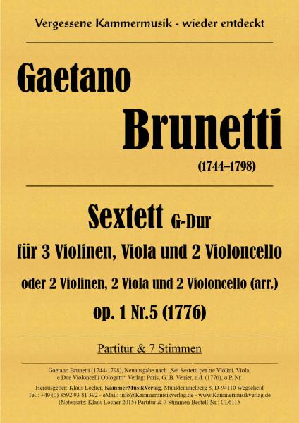 Brunetti, Gaetano – Sextett G-Dur
