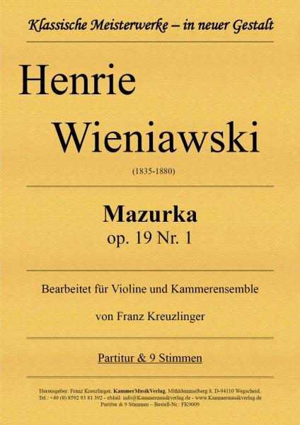 Wieniawski, Henrie – Mazurka