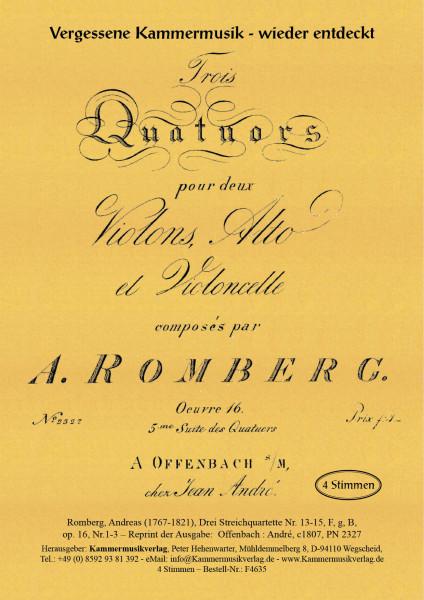 Romberg, Andreas – Drei Streichquartette Nr. 13-15