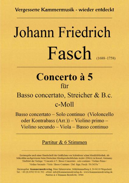 Fasch, Johann Friedrich – Violoncello-Konzert