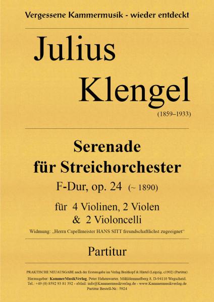 Klengel, Julius – Serenade für Streichorchester, F-Dur, op. 24