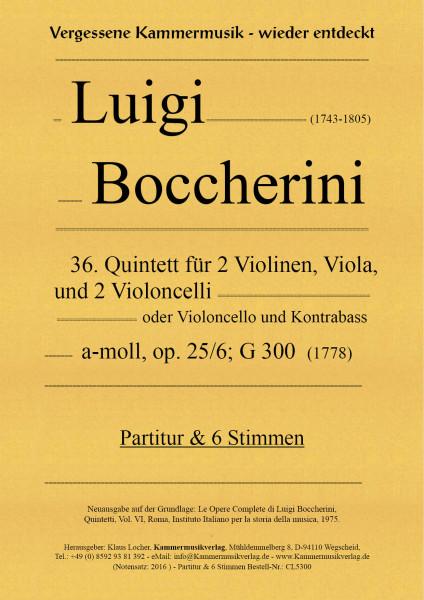 Boccherini, Luigi – 36. Quintett für 2 Violinen, Viola und 2 Violoncelli