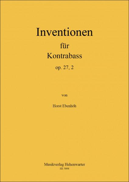 Ebenhöh, Horst – Inventionen für Kontrabass, op. 27,2