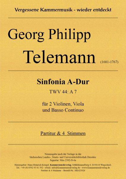 Telemann, Georg Philipp – Sinfonia A-Dur (TWV 44: A7)