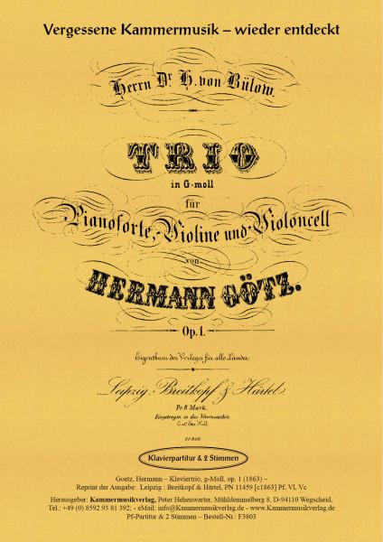 Goetz, Hermann – Klaviertrio, g-Moll, op. 1