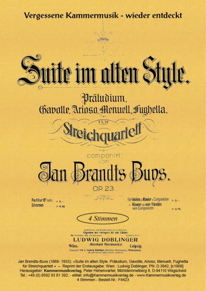 Brandts-Buys, Jan – Suite für Streicher, d-Moll, op. 23