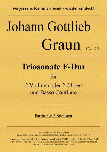Graun Johann Gottlieb – Triosonate F-Dur