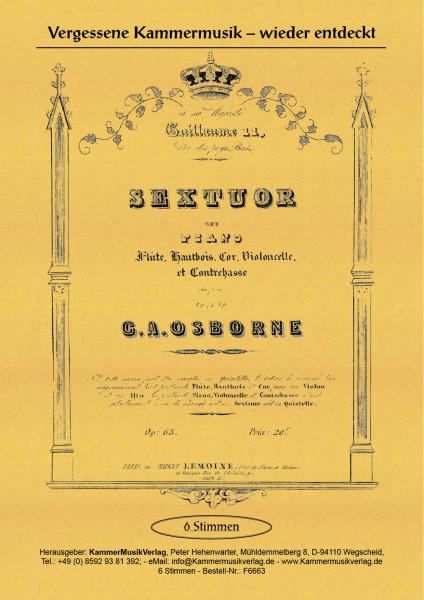 Osborne, John Alexander – Klaviersextett oder -quintett, E-Dur, op. 63
