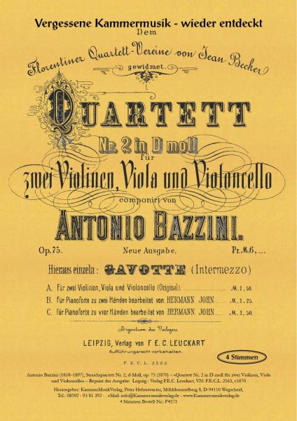 Bazzini, Antonio – Streichquartett Nr: 2