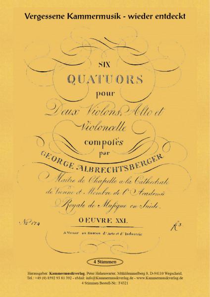 Albrechtsberger, Johann Georg – Sechs Streichquartette, op. 21, Nr. 1-6