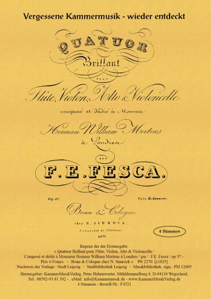 Fesca, Friedrich Ernst – Flötenquartett Nr. 1, D-Dur, op. 37 – Stimmen