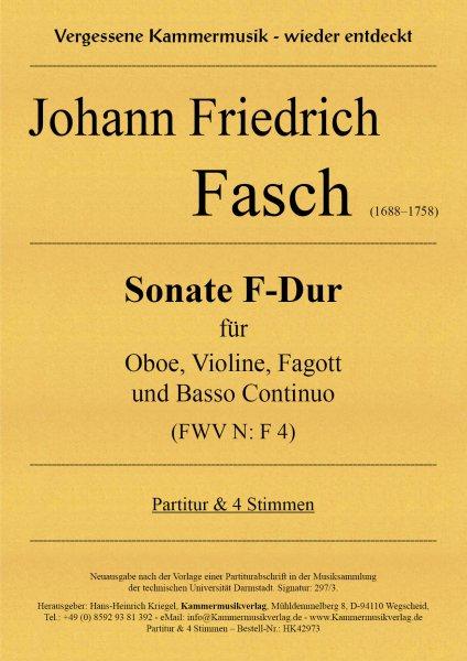 Fasch, Johann Friedrich – Sonate F-Dur für Oboe, Violine, Fagott und Basso Continuo (FWV N: F 4)