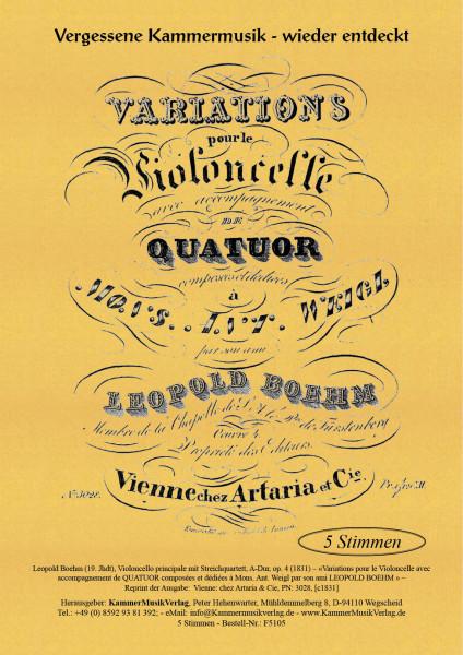 Boehm, Leopold – Violoncello principale mit Streichquartett, A-Dur, op. 4