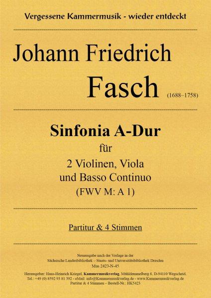 Fasch, Johann Friedrich – Sinfonia A-Dur (FWV M: A 1)