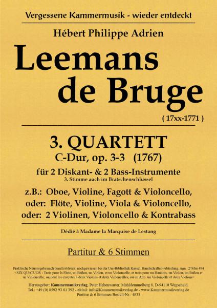 Leemans de Bruge, Hébert Ph. A. – Streichquartett Nr. 3, C-Dur, op. 3-3