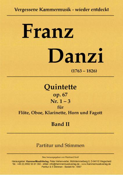 Danzi, Franz – 3 Bläserquintette Nr. 4-6