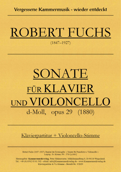 Fuchs, Robert – Sonate für Kontrabass & Klavier