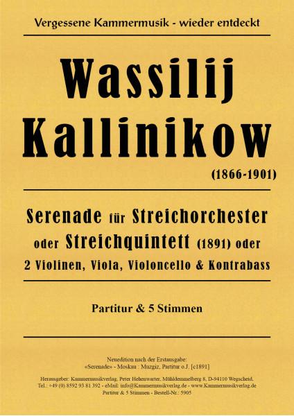 Kalinnikow, Wassilij – Serenade für Streichorchester, g-Moll