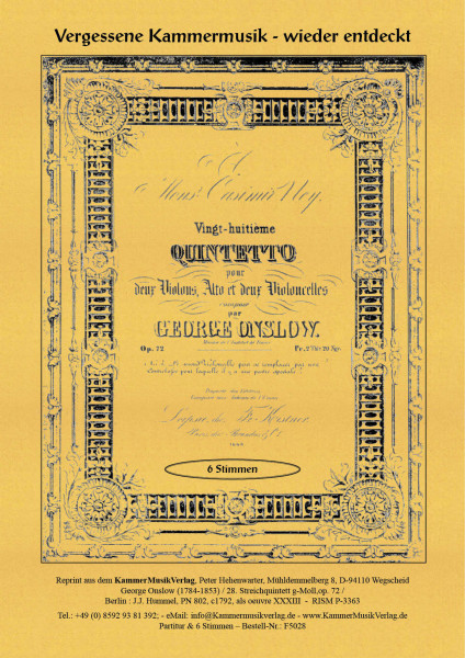 Onslow, George – Streichquintett Nr. 28