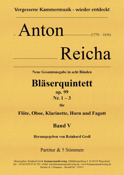 Reicha, Anton – 3 Bläserquintette Nr. 13-15, op. 99