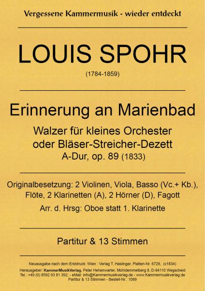 Spohr, Louis – Kleines Orchester «Erinnerung an Marienbad», A-Dur, op. 89